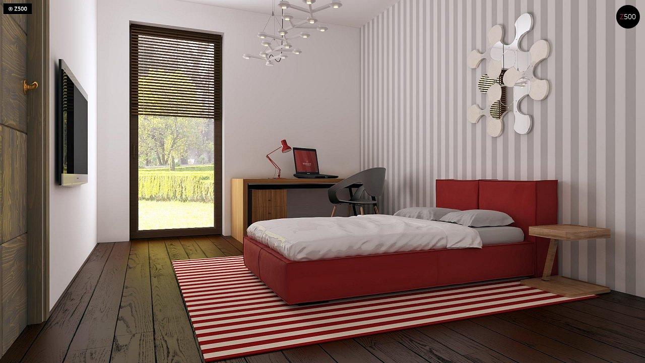 Проект небольшого практичного одноэтажного дома. Есть возможность обустройства чердачного помещения. 18