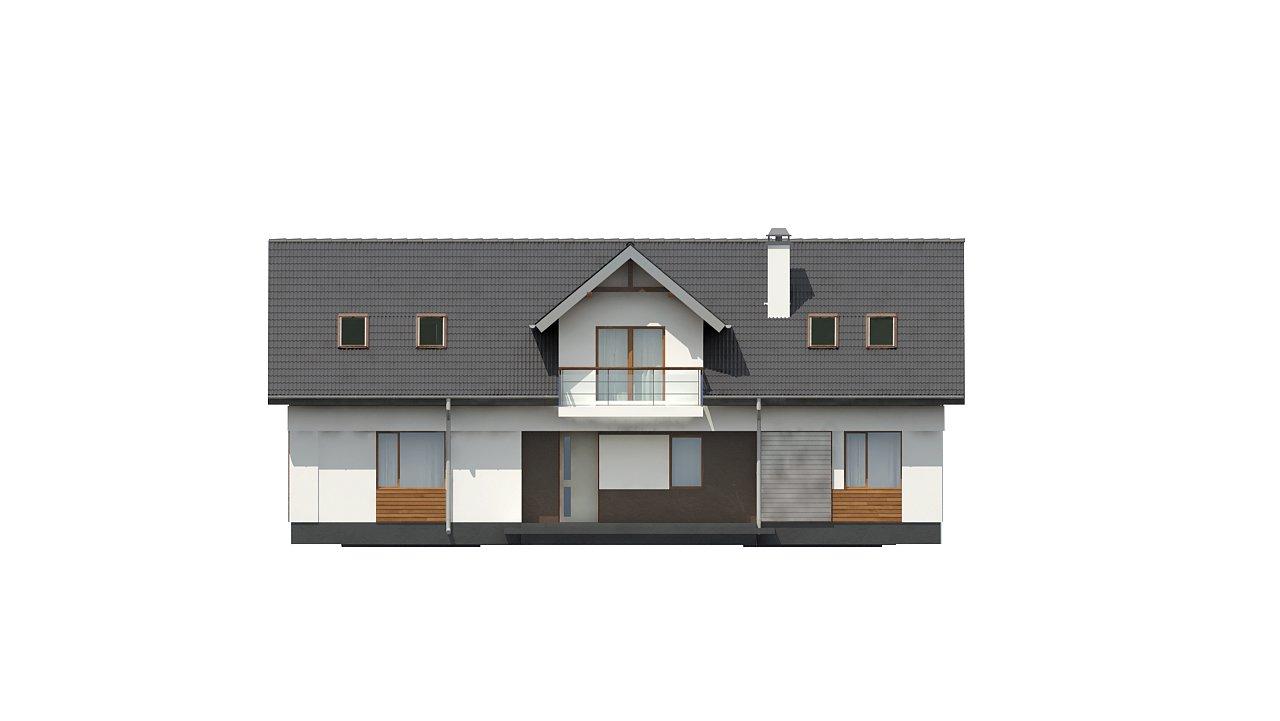 Практичный двухквартирный дом с общими входом и техническим помещением. 11