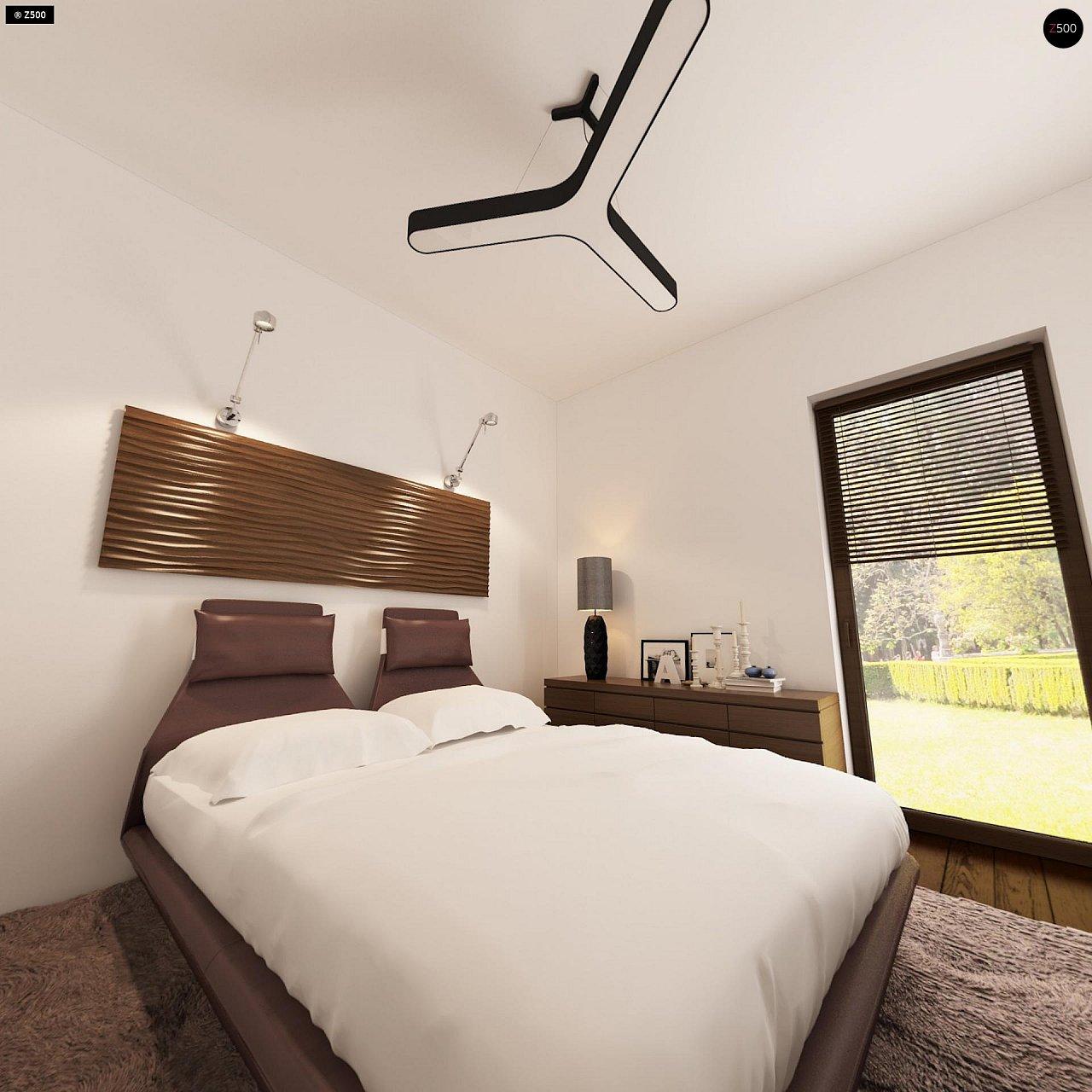 Проект небольшого практичного одноэтажного дома. Есть возможность обустройства чердачного помещения. 12