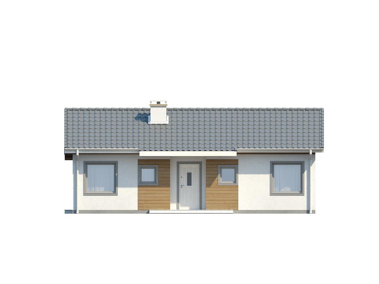 Компактный дом с двускатной крышей — выгодный, функциональный и практичный. 21