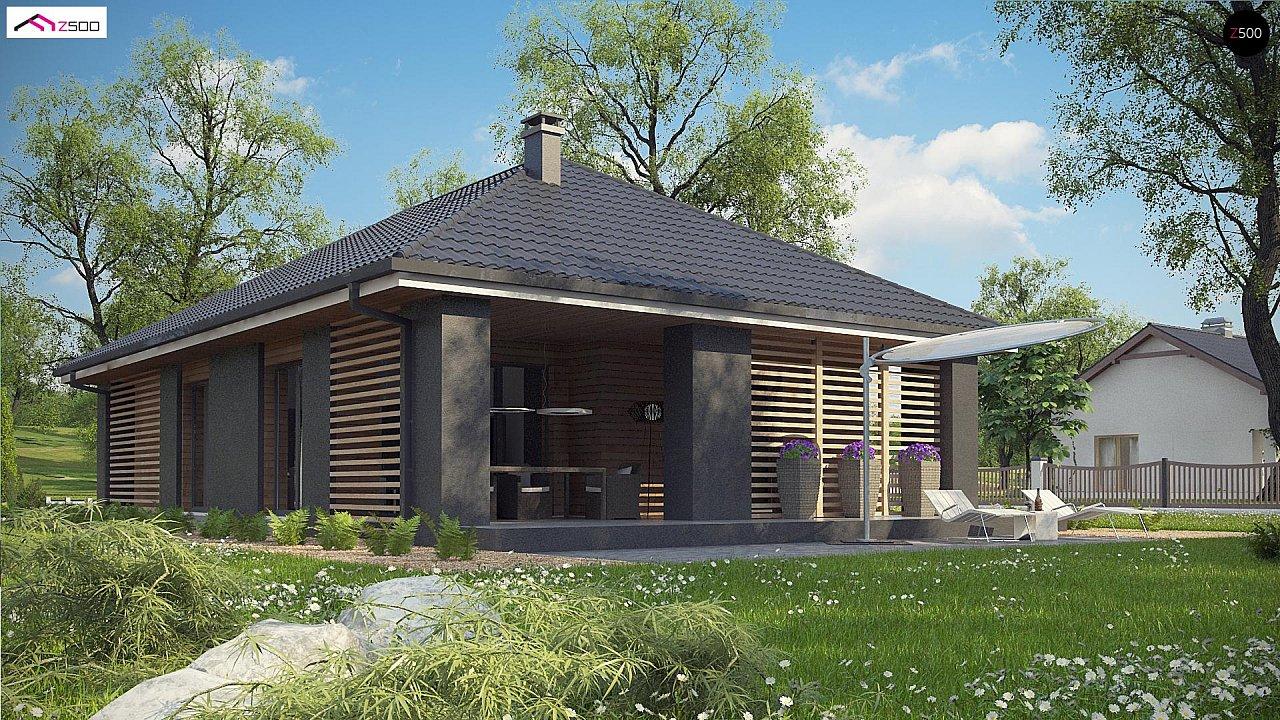 Одноэтажный дом в современном стиле с двойным гаражом 7