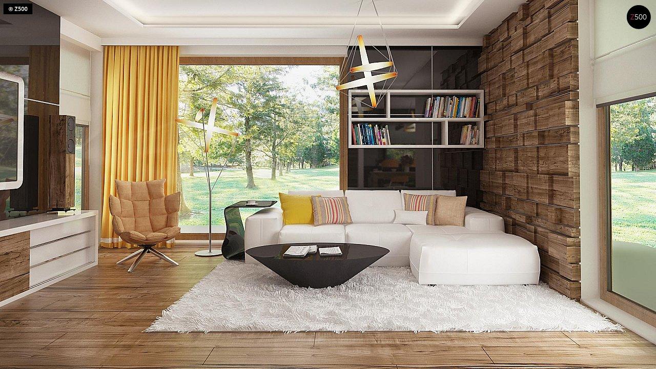 Необычные мансардные окна, фронтальный гараж и современные фасады выделяют этот проект среди остальных. 4