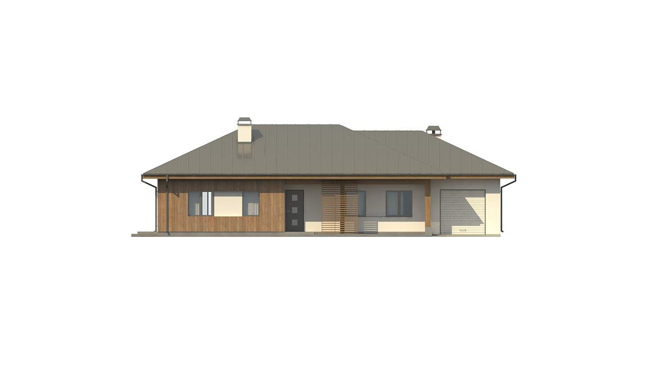 Вариант одноэтажного дома Z176 с гаражом справа на одну машину. - фото 26