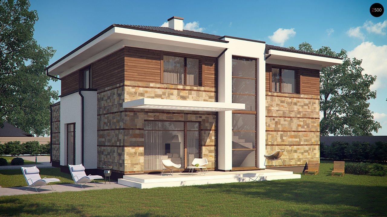 Проект двухэтажного дома с гаражом для двух авто, с баней - фото 4