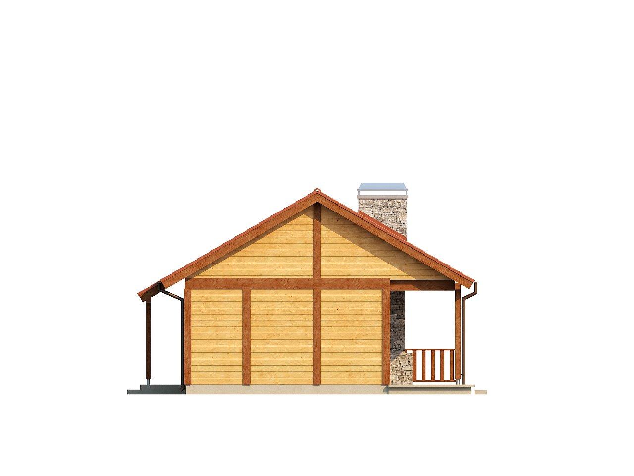 Маленький одноэтажный дом, оснащенный всем необходимым для круглогодичного проживания. 15