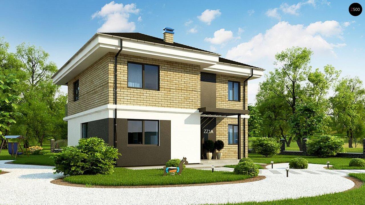 Вариант двухэтажного дома Zz1a с плитами перекрытия 3