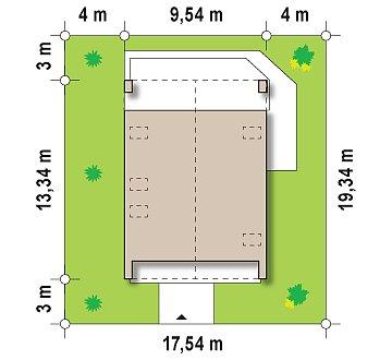 Практичный и уютный дом с модернистскими элементами в архитектуре. план помещений 1