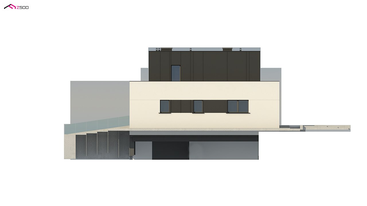 Дом в современном стиле с подвалом 10