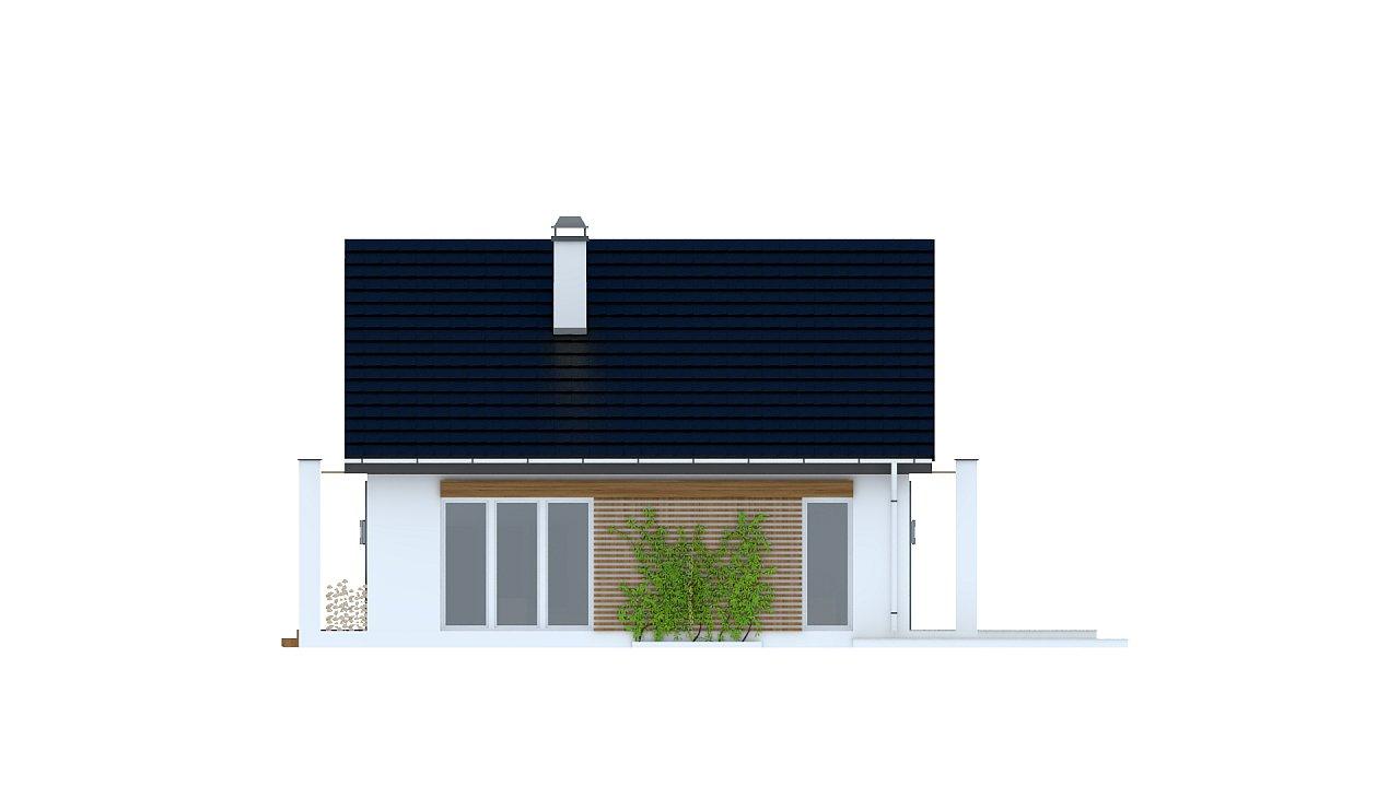 Одноэтажный дом с дополнительной фронтальной террасой. 6