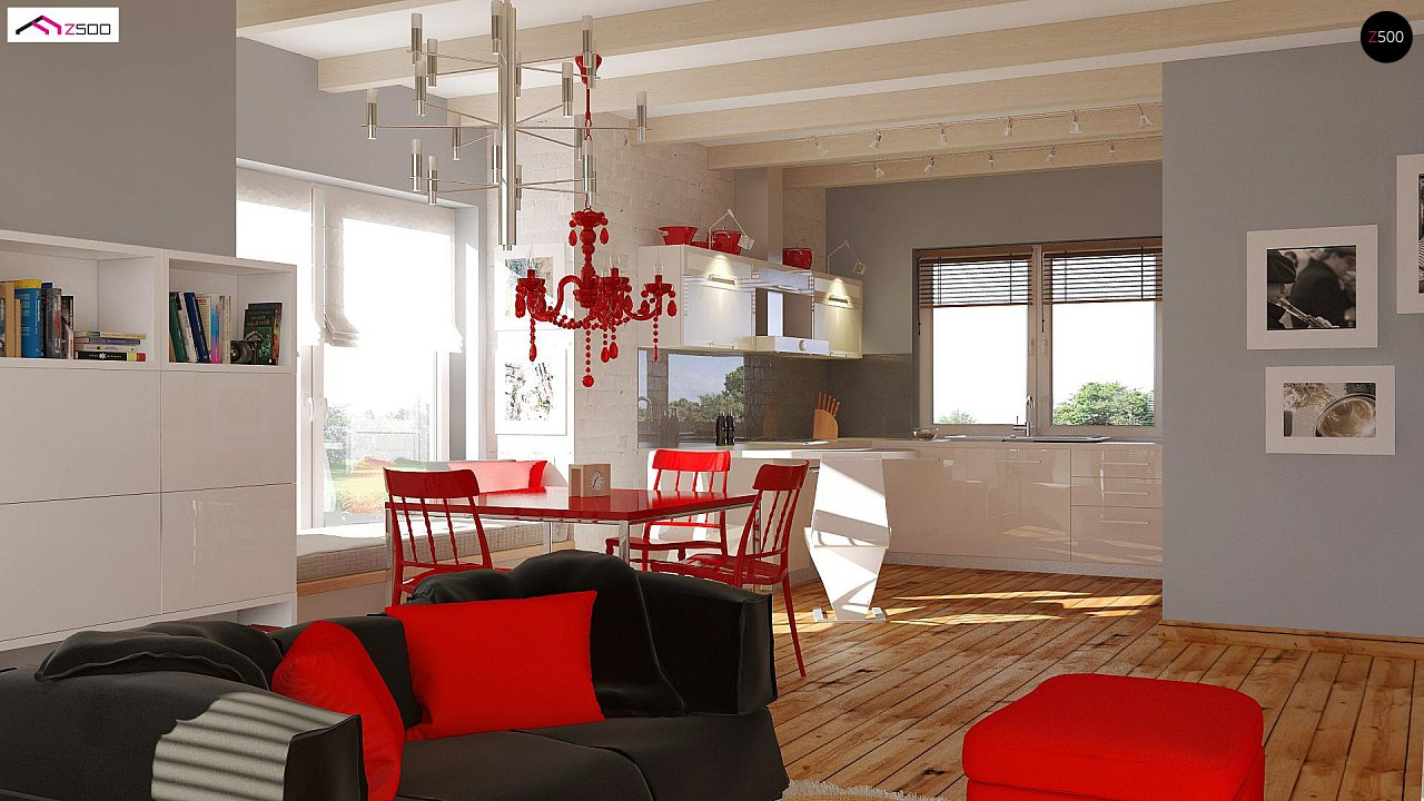 Одноэтажный удобный дом с фронтальным гаражом, с возможностью обустройства мансарды. - фото 4