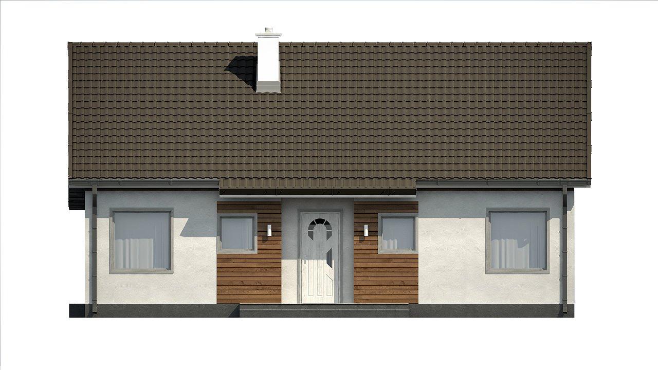 Версия проекта Z7 с углом наклона крыши 35 градусов. 21