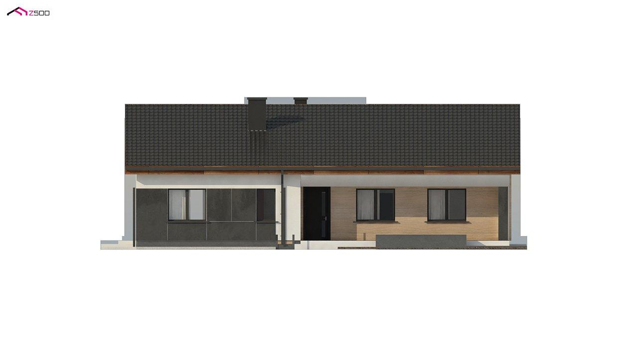 Стильный одноэтажный дом с двускатной кровлей и грамотной планировкой 16