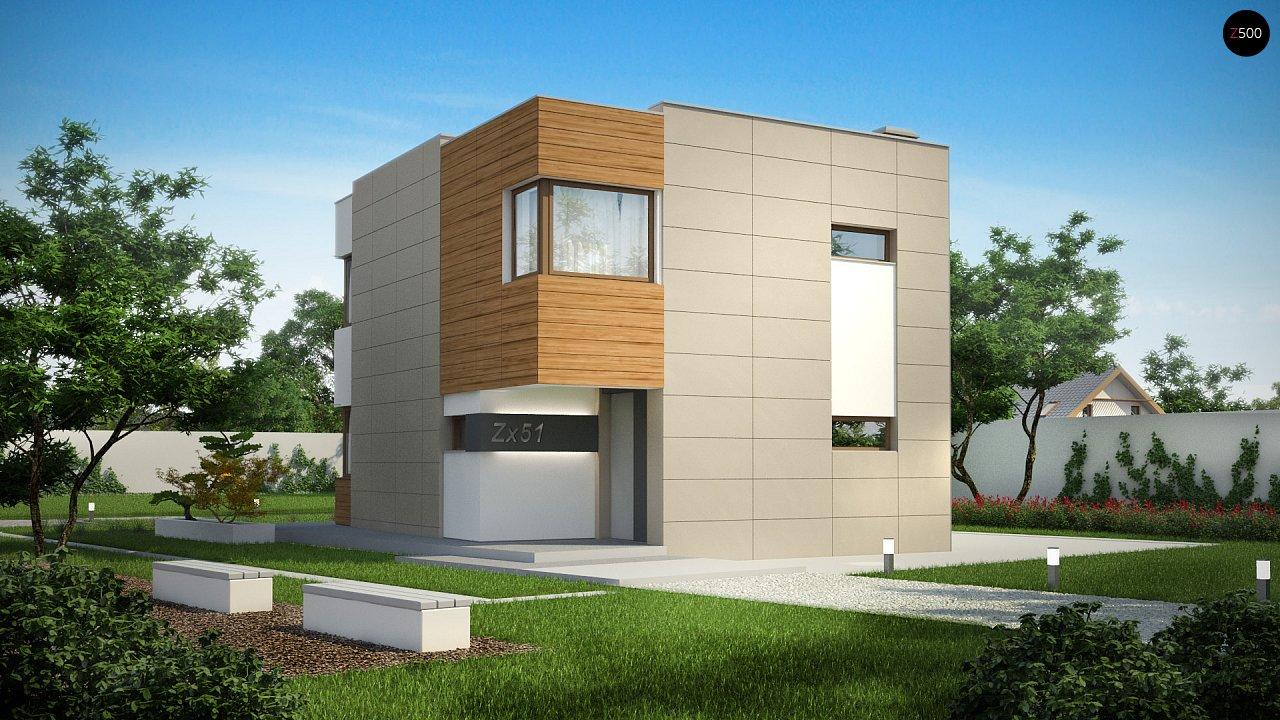 Компактный дом в стиле современного кубизма с тремя спальнями. - фото 1