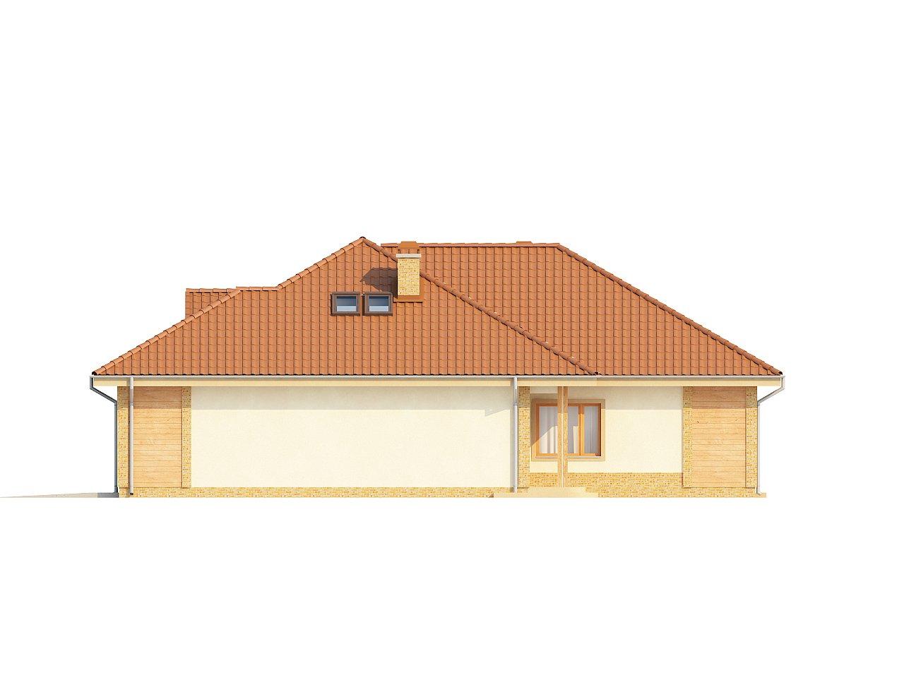 Проект просторного одноэтажного дома с возможностью обустройства мансарды. 6