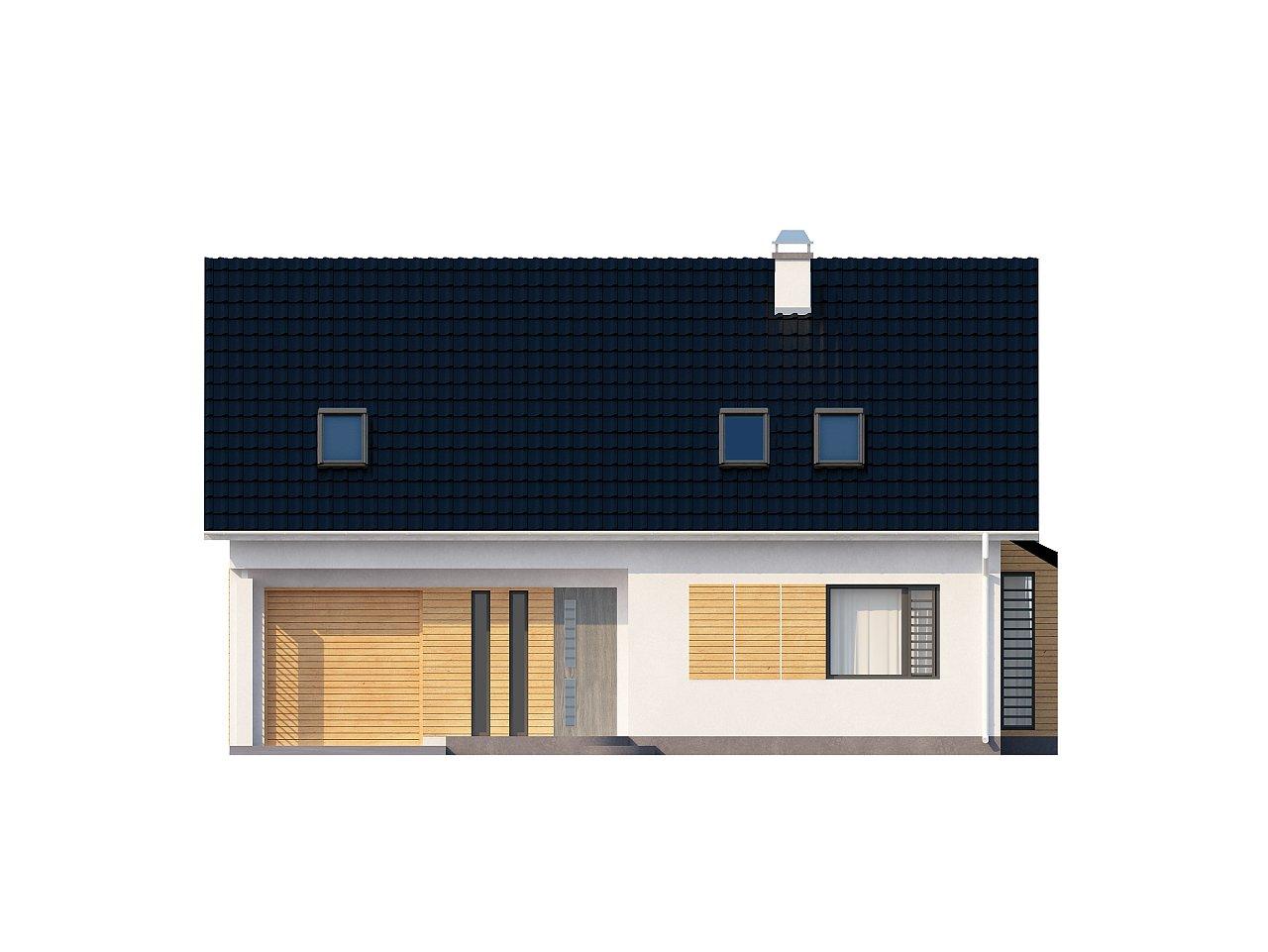 Проект функционального дома с эркером в столовой дополнительной спальней на первом этаже. 22