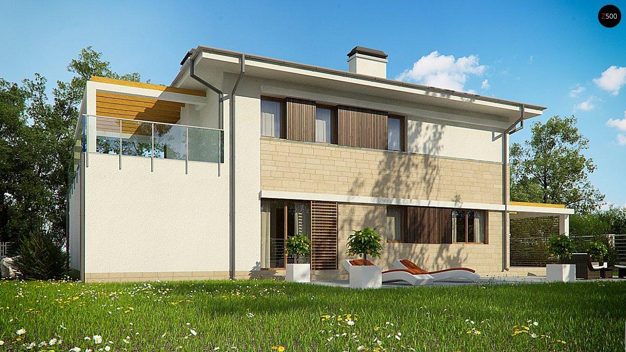 Проект функциональный двухэтажный дом с 4 спальнями и подвалом. 3
