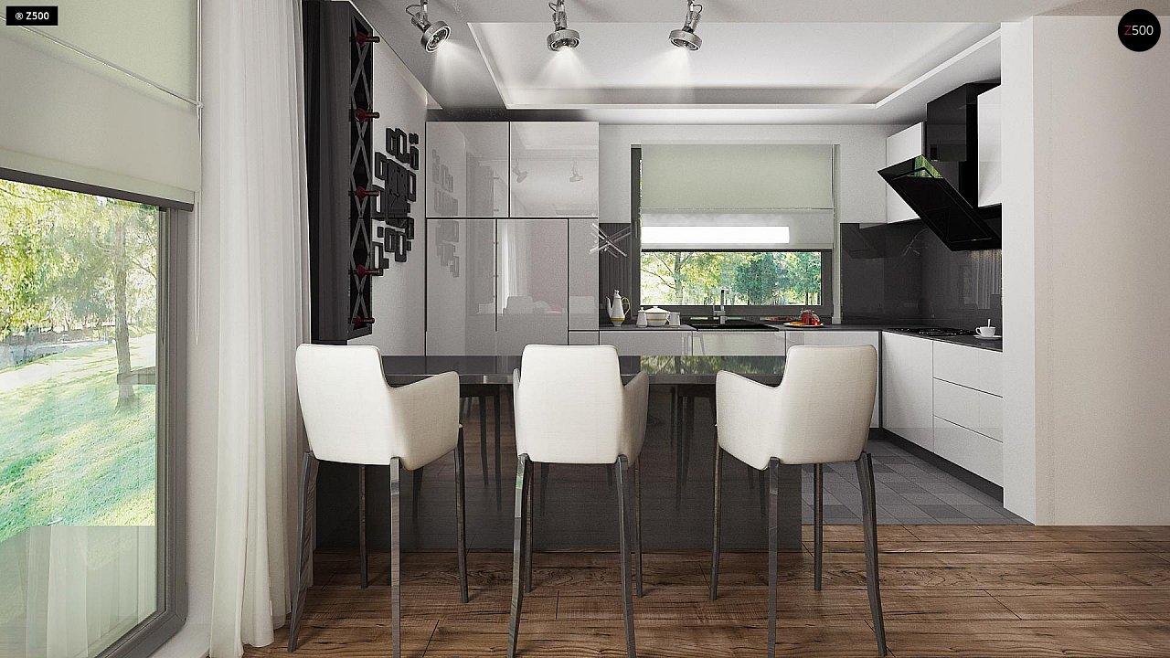 Проект стильного одноэтажного дома с функциональной планировкой - фото 12
