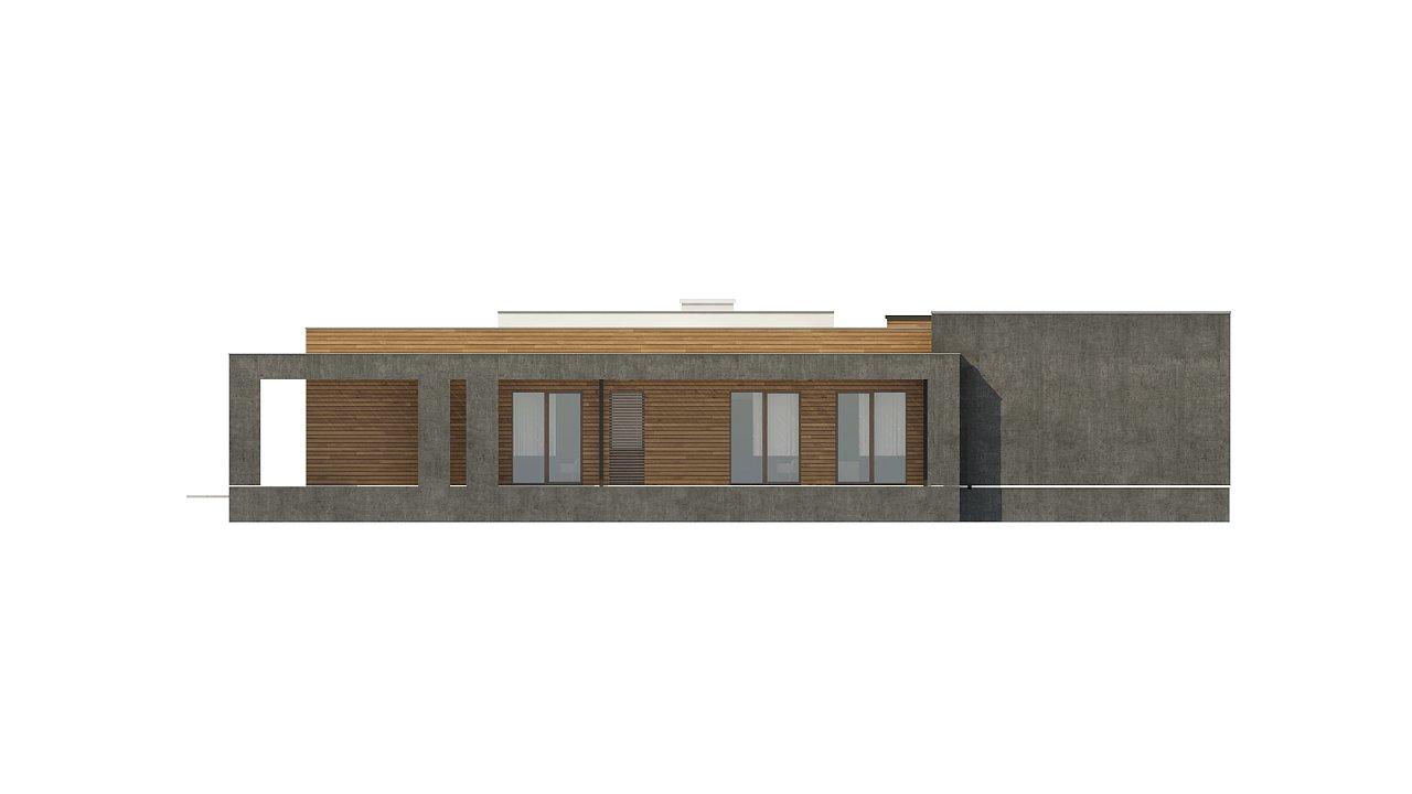 Одноэтажный дом с плоской кровлей и террасой 23