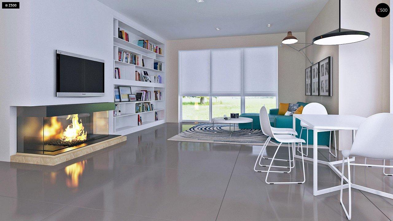 Проект практичного дома с большим хозяйственным помещением, с кабинетом на первом этаже. 6