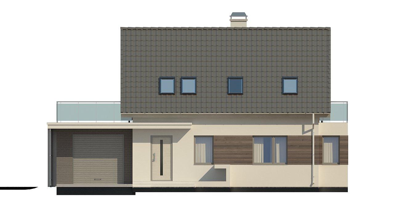 Удобный дом с эркером, балконом и террасой над гаражом. 3