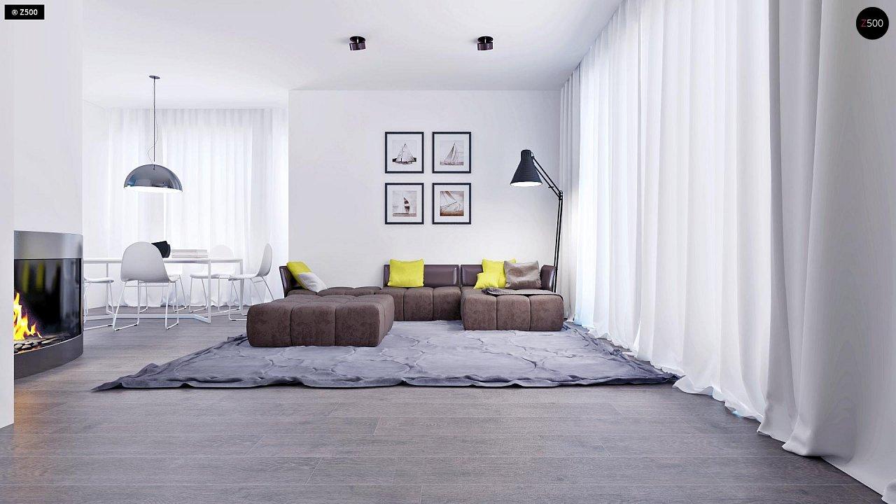 Проект функционального и удобного дома с комнатой над гаражом. 4