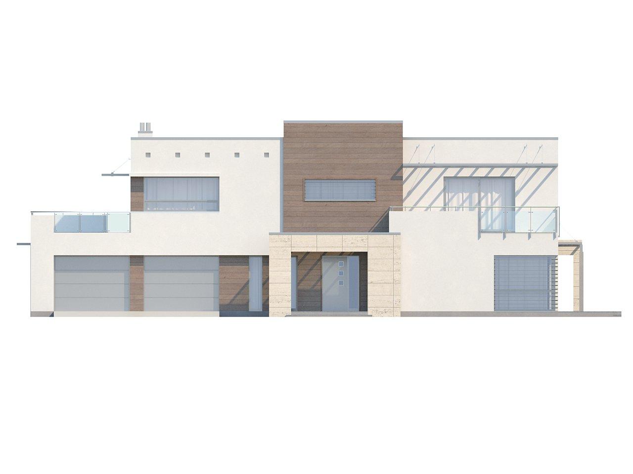 Версия проекта Zx15 с гаражом для двух автомобилей. - фото 24