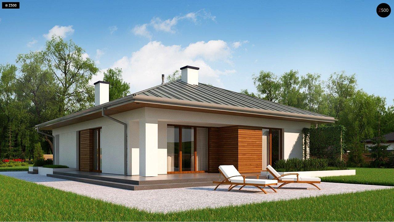 Одноэтажный дом с гаражом на две машины - фото 3