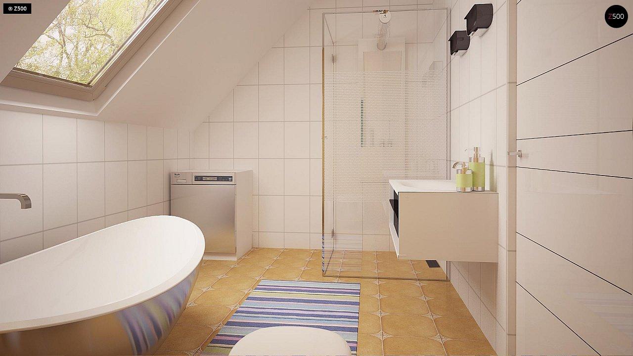 Функциональный аккуратный дом с мансардой, также для узкого участка. 14
