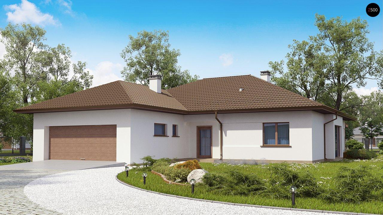 Удобный функциональный одноэтажный дом с гаражом для двух автомобилей. - фото 1