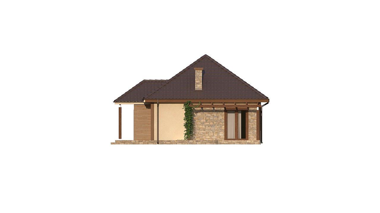 Зеркальная версия проекта Z73 с гаражом с левой стороны дома 3