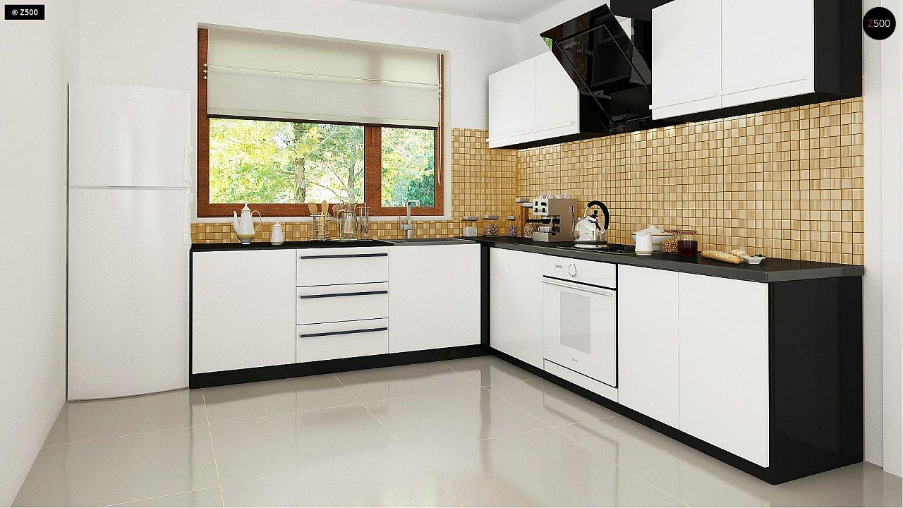 Функциональный традиционный дом с современными элементами в архитектуре, со встроенным гаражом. 8