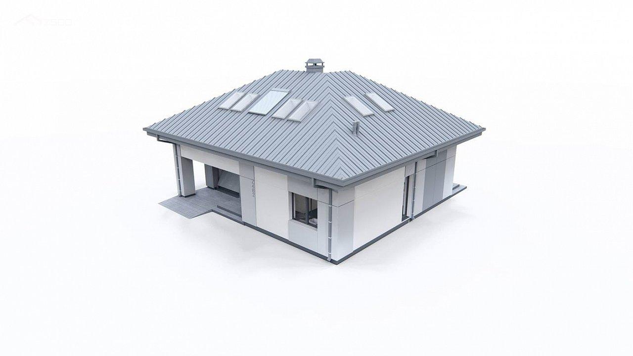 Двухэтажный дом с мансардой 7