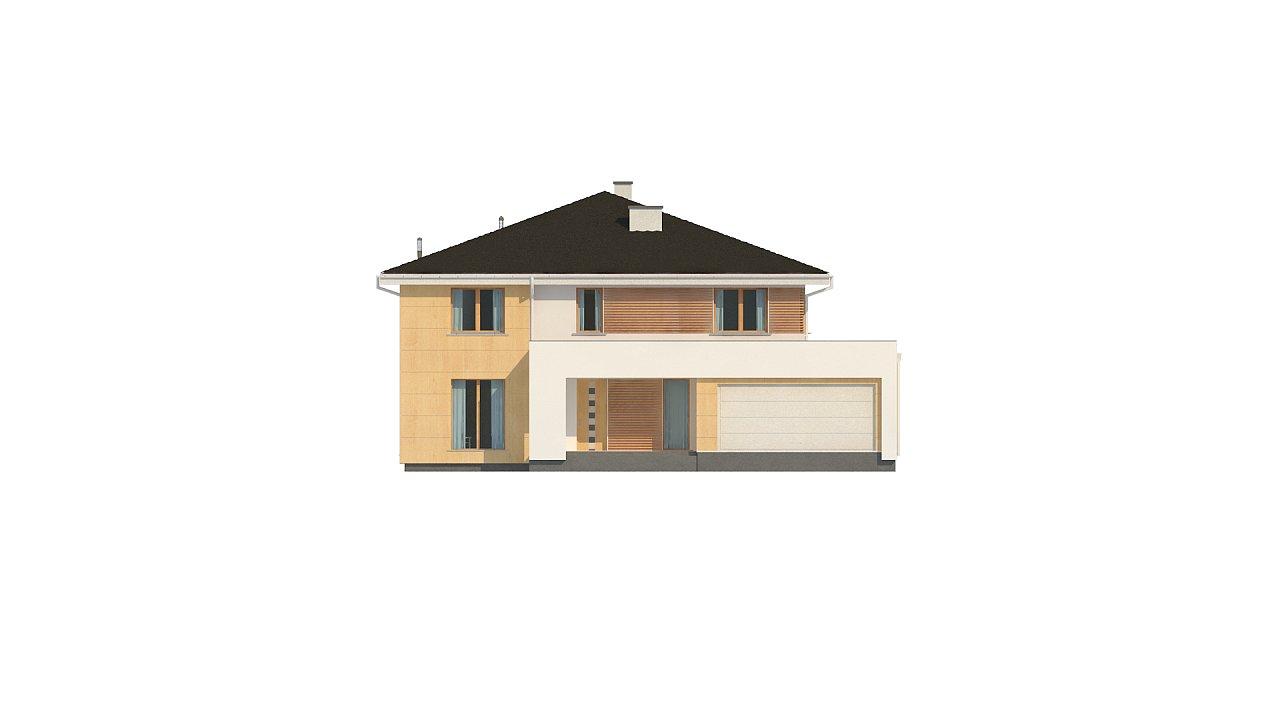 Проект комфортабельного двухэтажного коттеджа современного дизайна 5