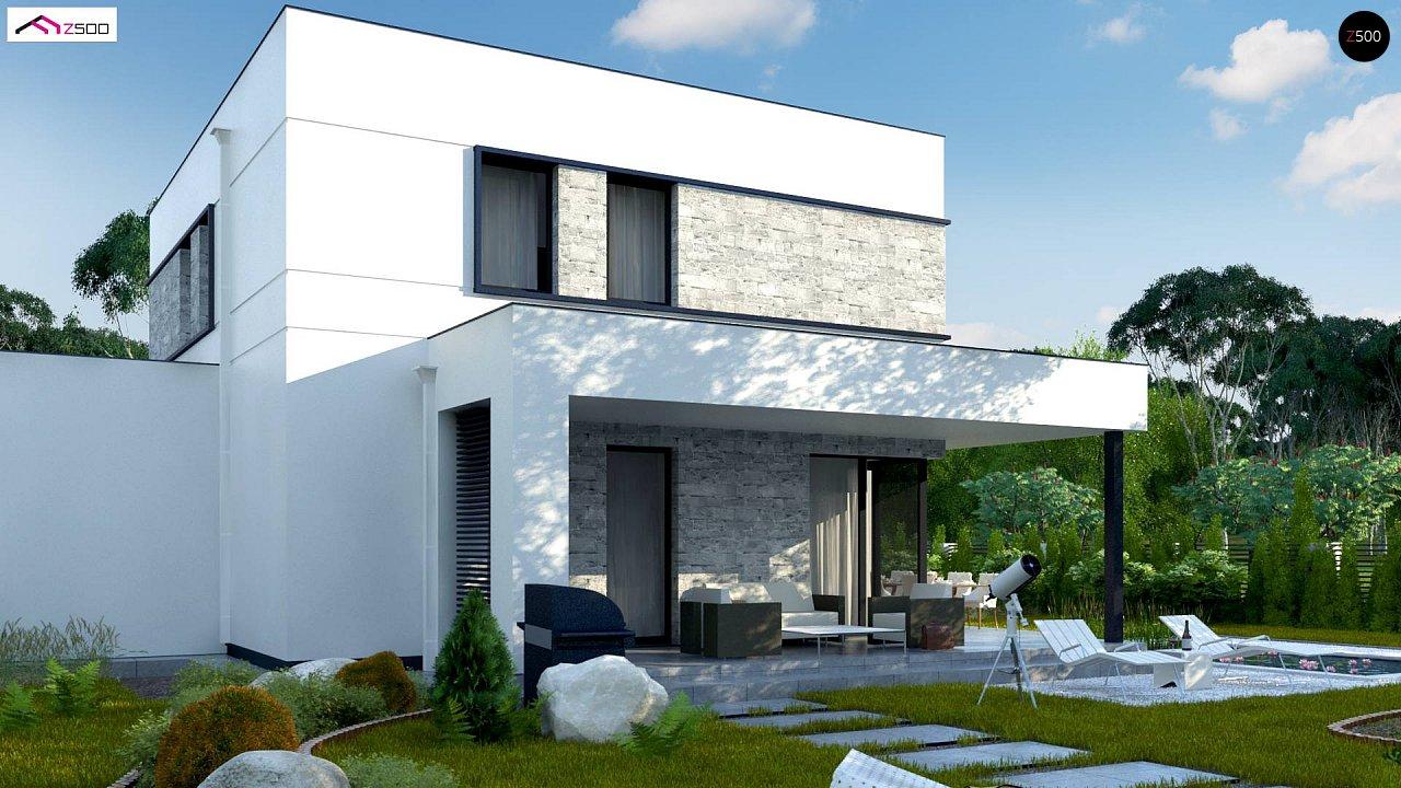 Проект двухэтажного дома с дополнительной комнатой на первом этаже и гаражом на один автомобиль. 6
