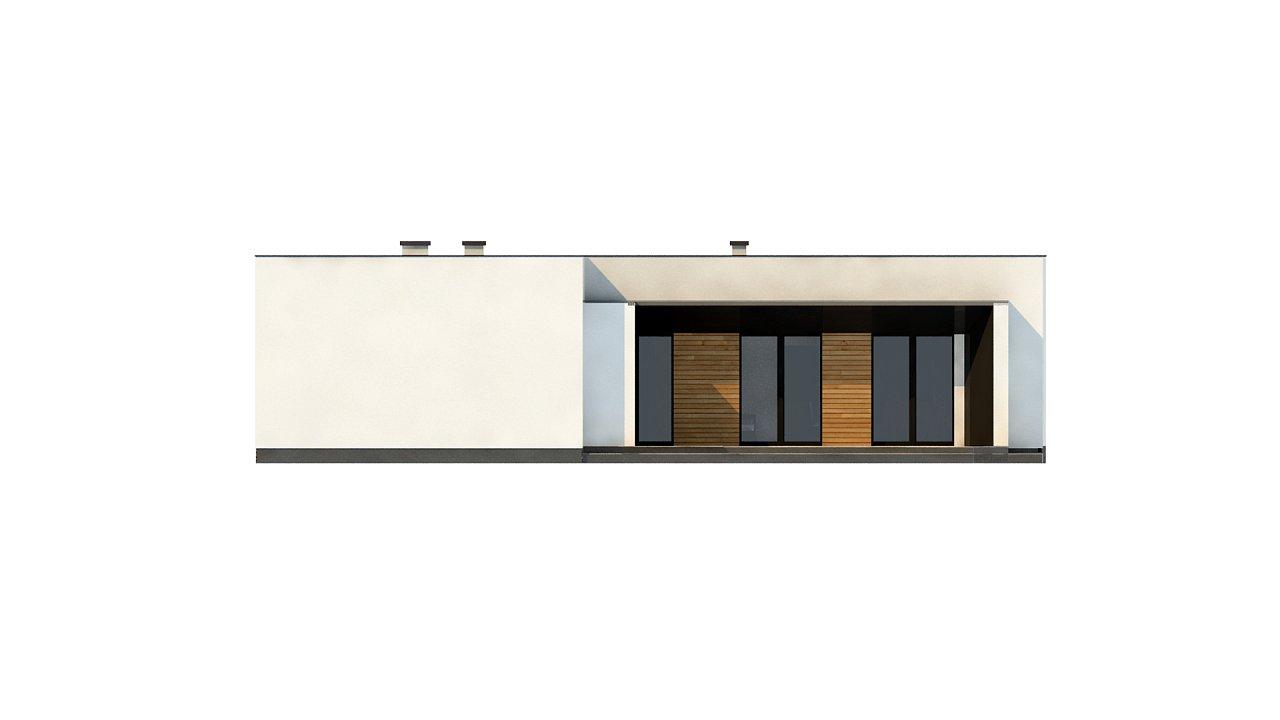 Современный одноэтажный дом с плоской крышей и гаражом на один автомобиль. - фото 10