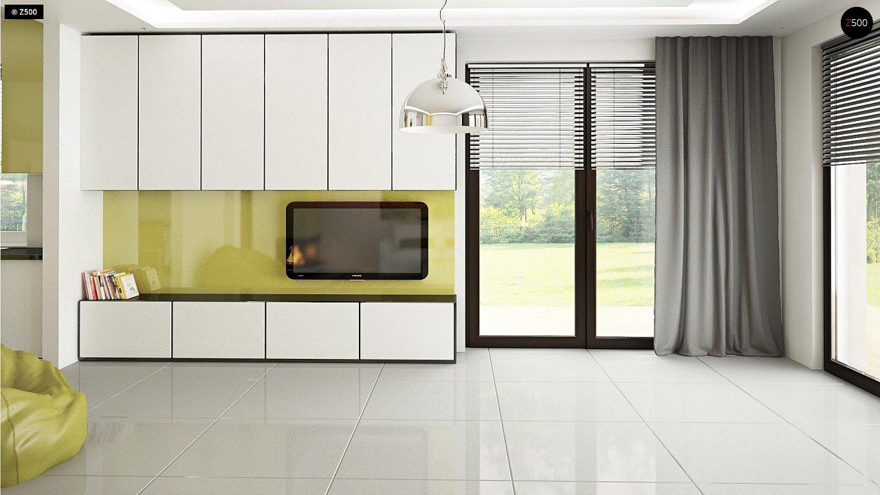 Функциональный и привлекательный дом с гаражом для узкого участка. 7