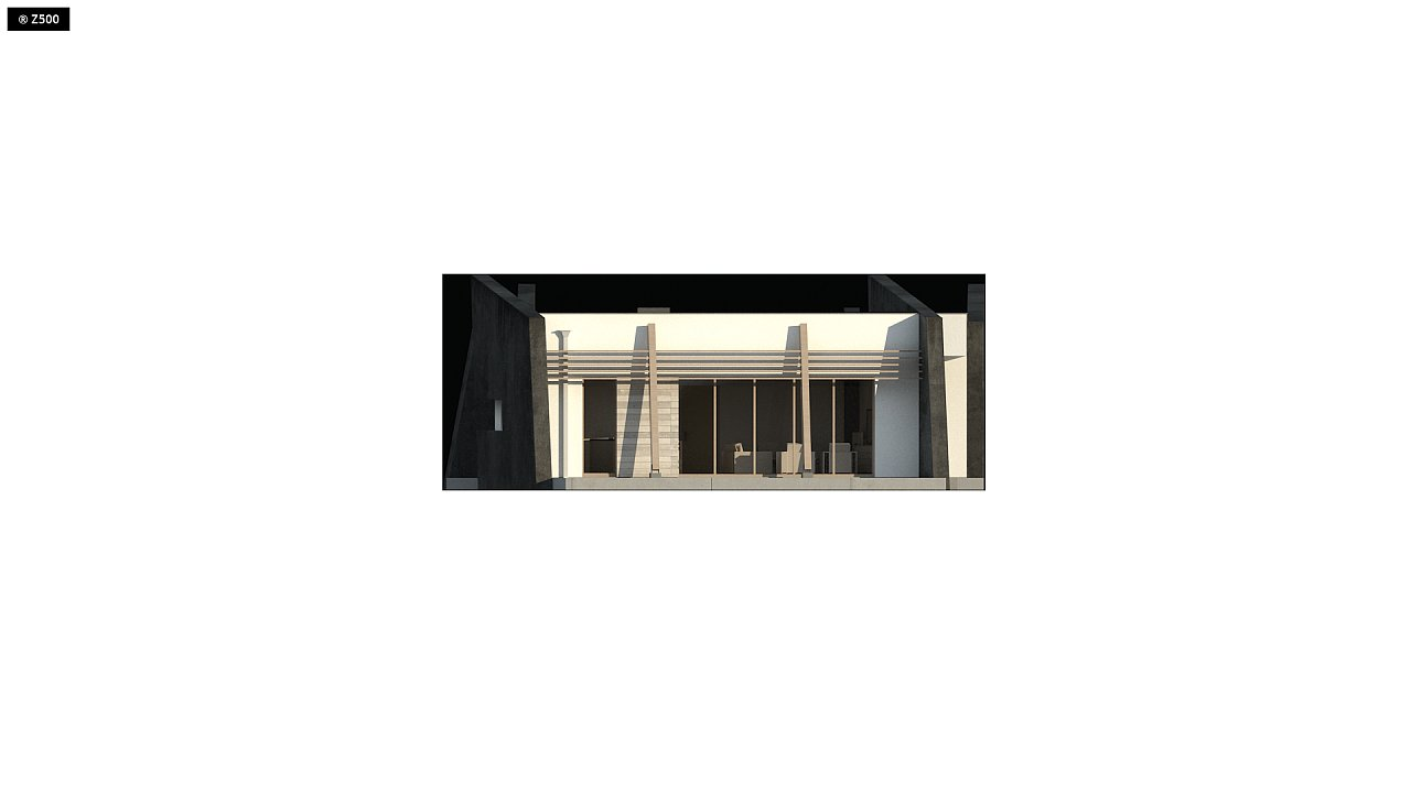 Современный одноэтажный дом в стиле минимализм 7