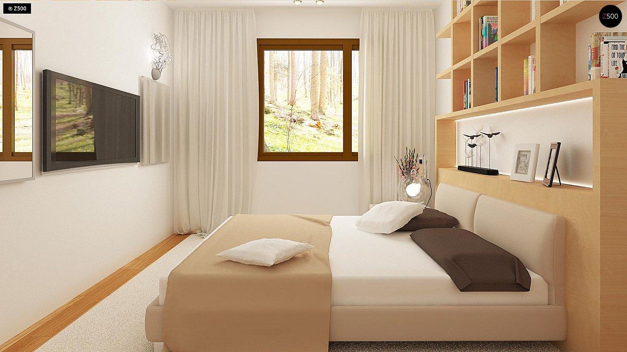 Простой и недорогой в строительстве одноэтажный дом небольшой площади. 14
