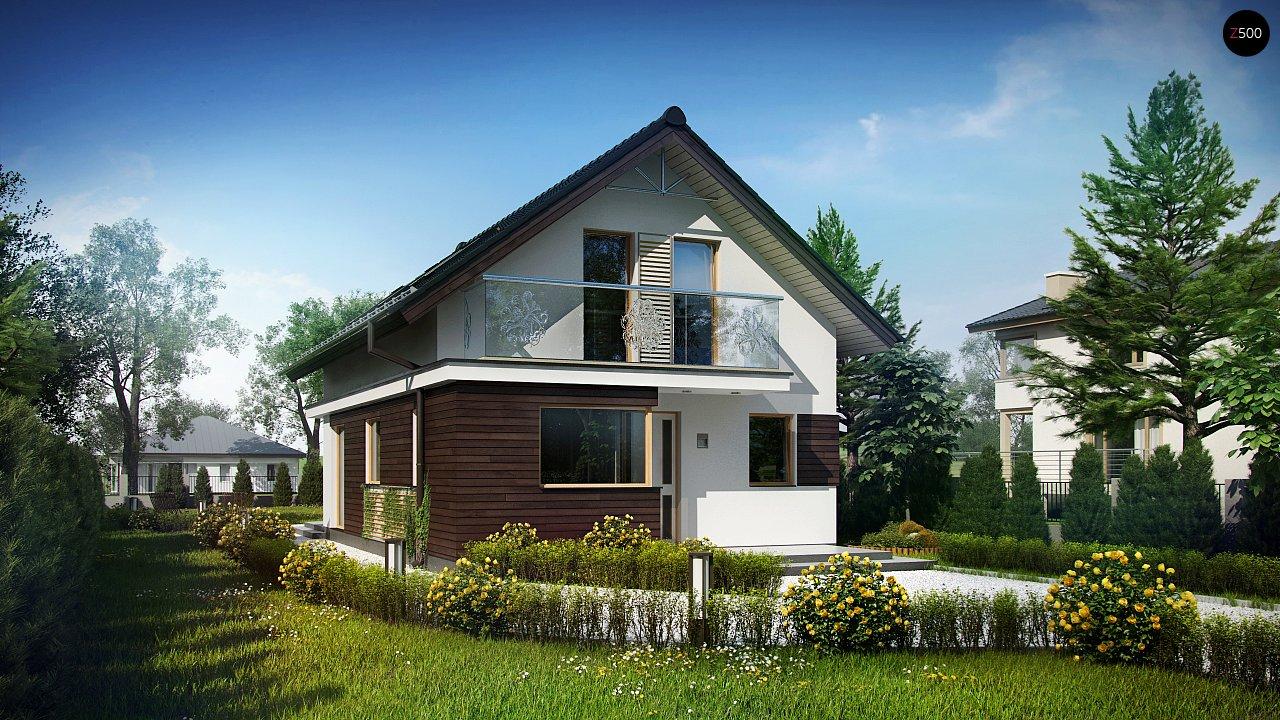 Функциональный аккуратный дом с мансардой, также для узкого участка. 1