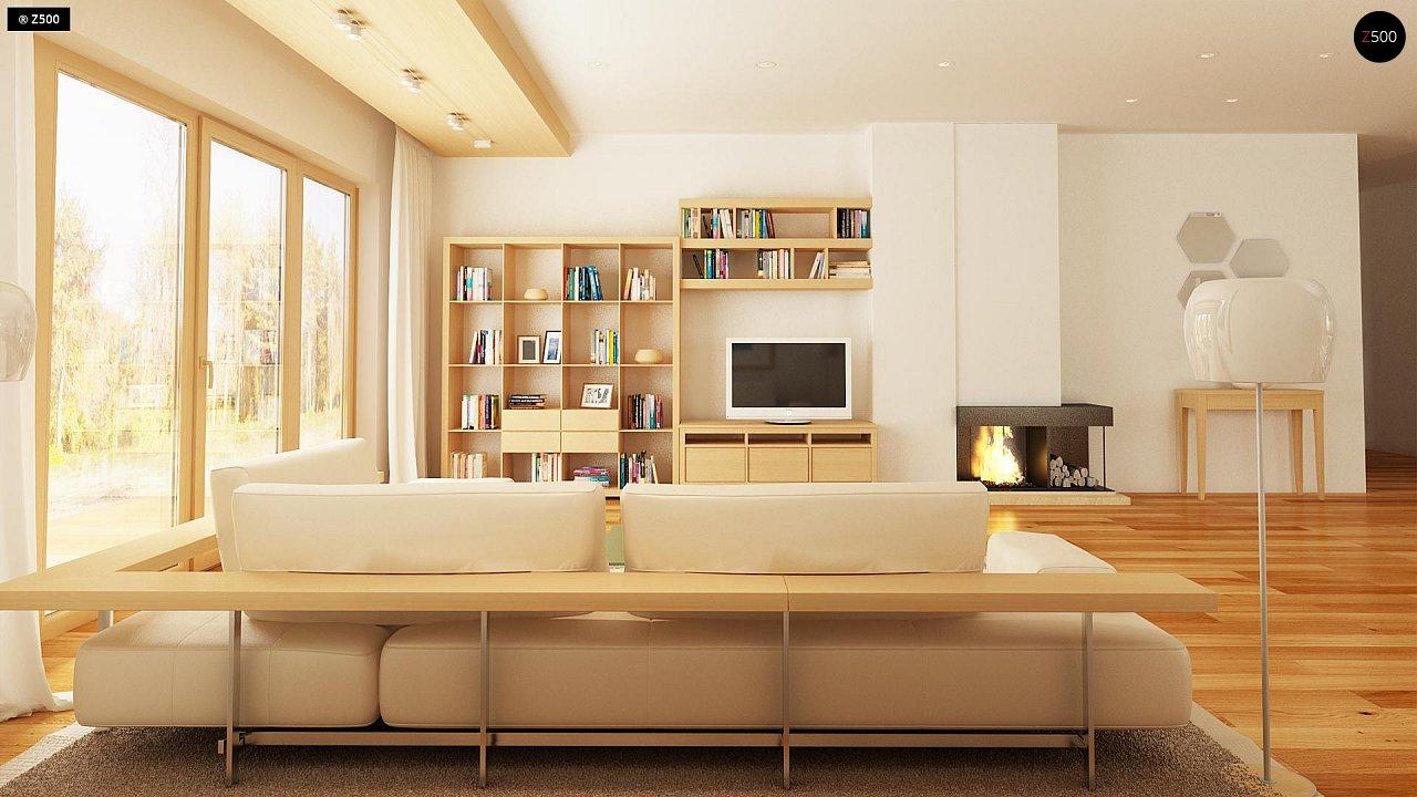 Комфортный элегантный дом с тремя спальнями и выступающим фронтальным гаражом. 6