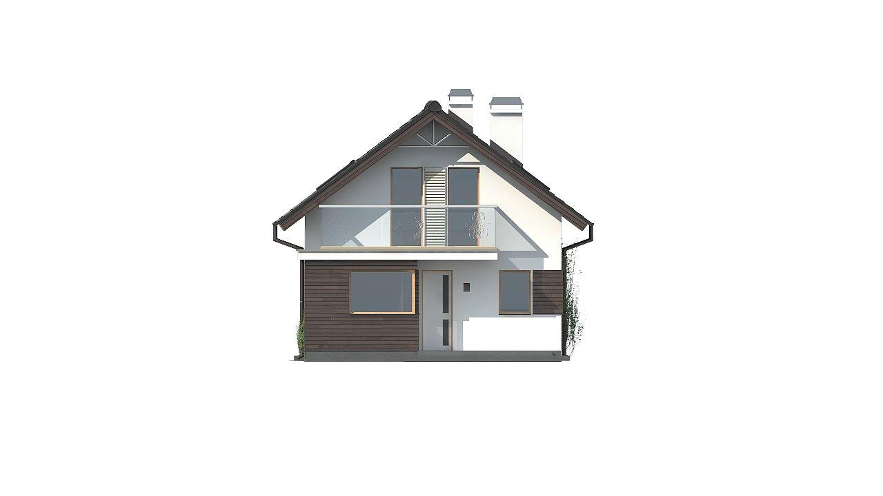 Функциональный аккуратный дом с мансардой, также для узкого участка. 15