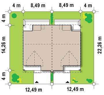 Проект стильного, функционального и недорогого двухсемейного дома. план помещений 1