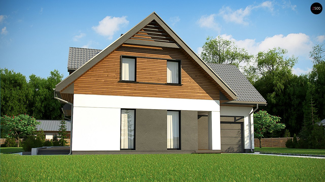 Современный жилой дом с гаражом 2