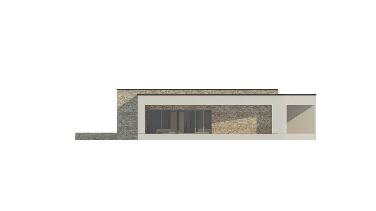 Одноэтажный коттедж с гаражом на одну машину и уютной террасой 14