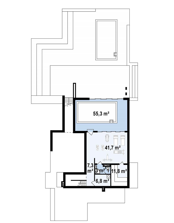 Трехэтажная современная резиденция с террасами и бассейном . план помещений 1
