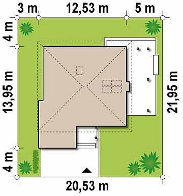 Комфортный двухэтажный дом со вторым светом над гостиной. план помещений 1