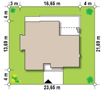 Проект современного дома с плоской кровлей и просторной открытой дневной зоной. план помещений 1