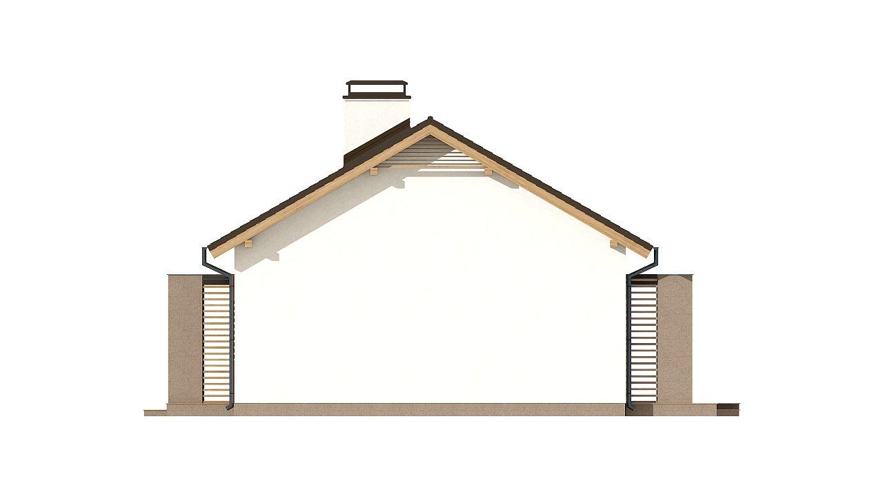 Небольшой одноэтажный дом с оригинальным оформлением террас. 16