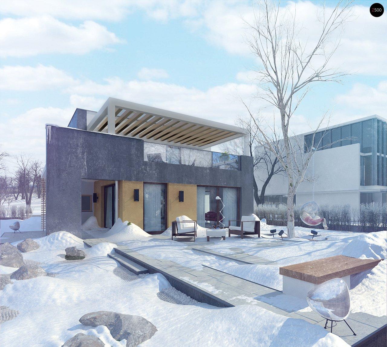 Дом характерного современного дизайна с гаражом и кабинетом на первом этаже. - фото 3