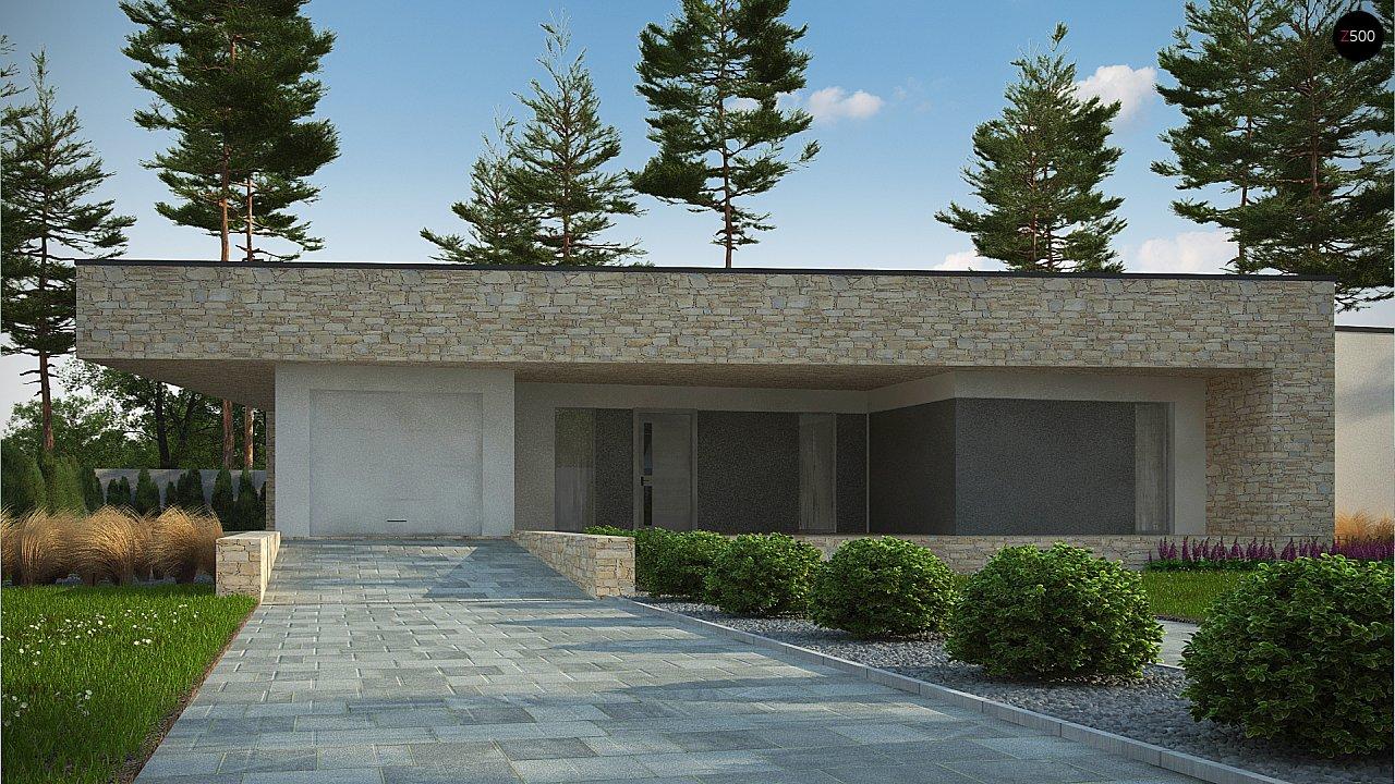 Одноэтажный коттедж с гаражом на одну машину и уютной террасой 2